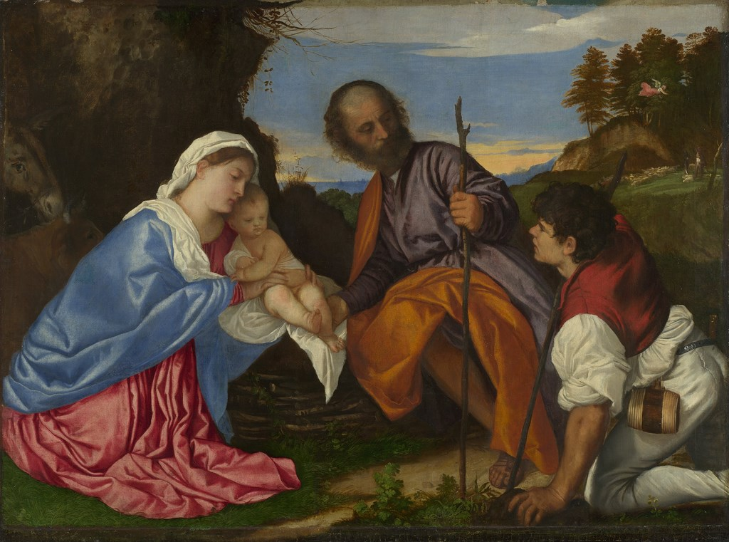 Titian The Holy Family