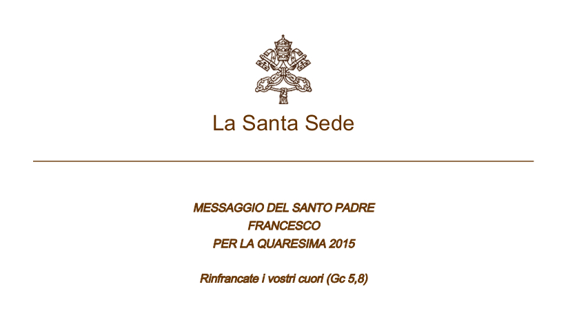 papa-francesco messaggio-quaresima2015